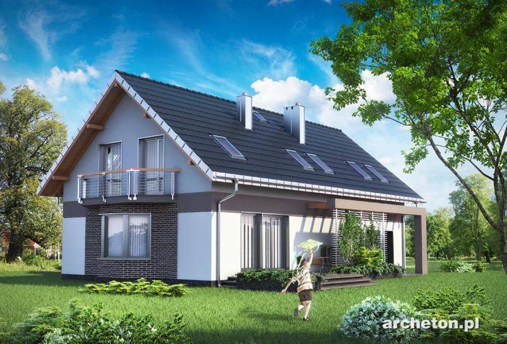 Projekt domu Dymsza Polo G2 - funkcjonalny dom z przestronną częścią gospodarczą i garażem dwustanowiskowym