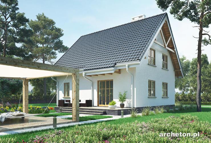 Projekt domu Dzwonek - średniej wielkości domek na planie kwadratu