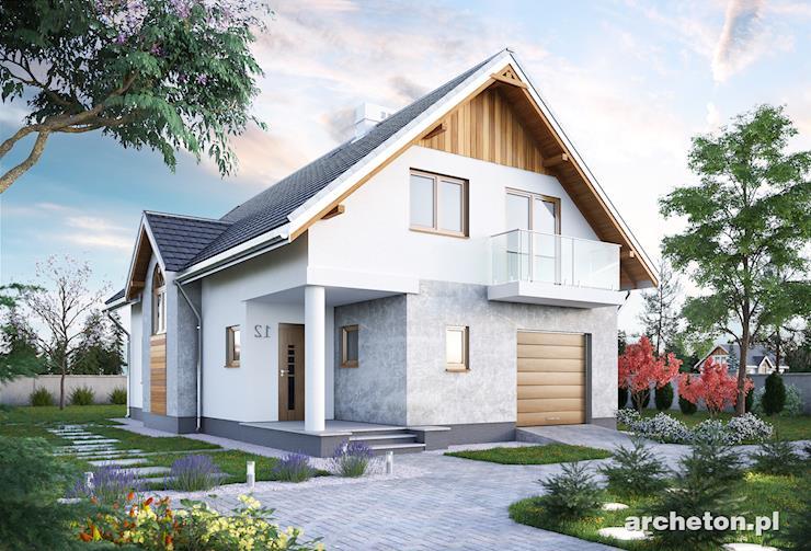 Projekt domu Elf - średniej wielkości dom na planie prostokąta