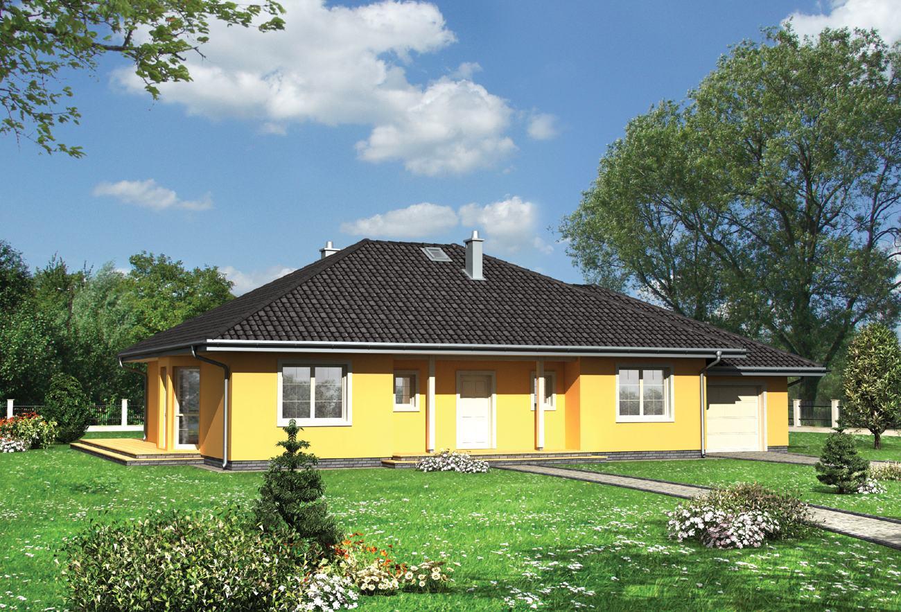 Projekt Domu Eliza Szkielet Drewniany Prefabryk Archetonpl