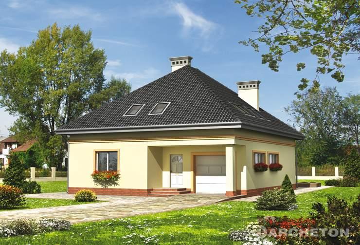 Projekt domu Eryk - dom parterowy z garażem dostępnym wyłącznie z zewnątrz