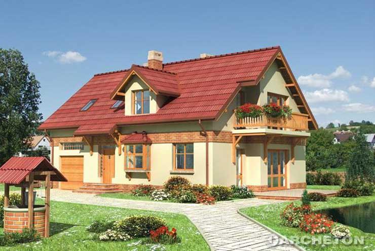 Projekt domu Feliks - malowniczy dom z wykuszem okna kuchennego