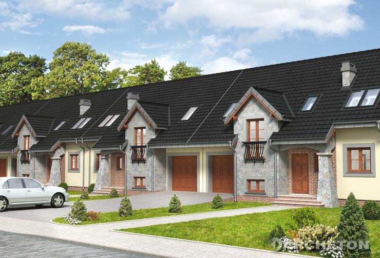 Projekt domu Fermata - dom parterowy do zabudowy szeregowej