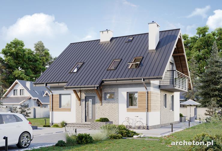 Projekt domu Figa Solo - niewielki dom parterowy, z użytkowym poddaszem