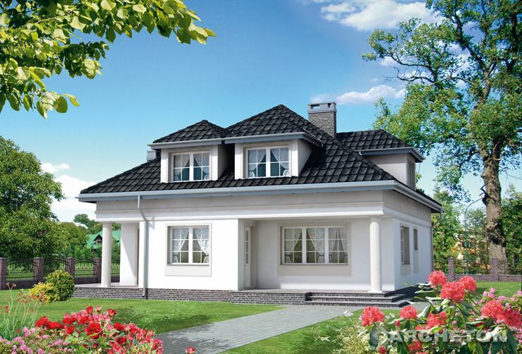 Projekt domu Filemon - duży i piękny dom, z miejscem na bawialnię na poddaszu