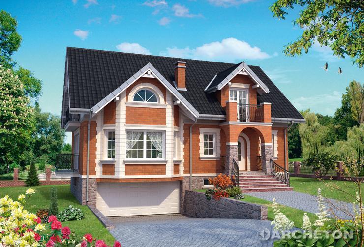 Projekt domu Filon - malownicza miejska willa z elewacją z cegły klinkierowej
