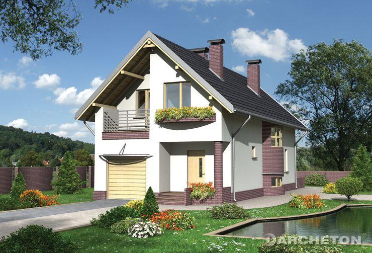 Projekt domu Foka - dom na planie prostokąta z obłymi wysunięciami klatki schodowej