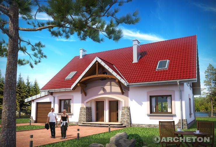 Projekt domu Galina - dom dwulokalowy zachwycający zarówno bryłą jak i układem funkcjonalnym