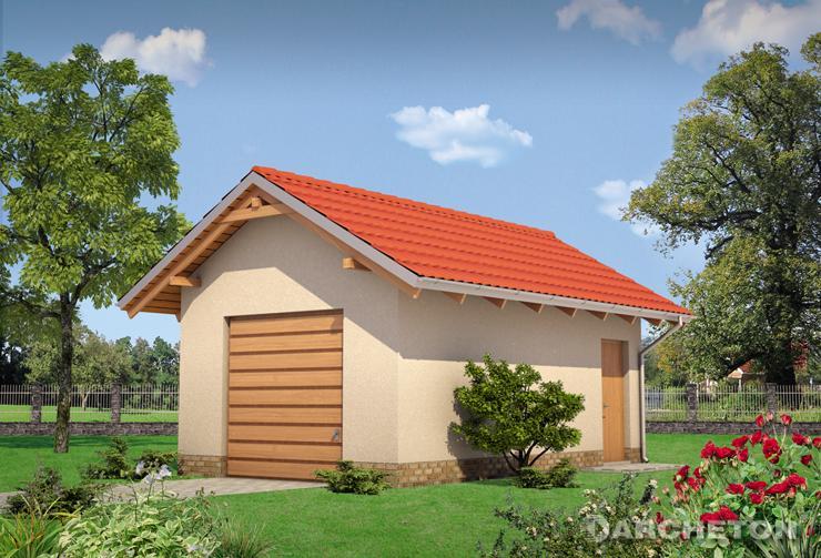 Projekt domu Garaż 33