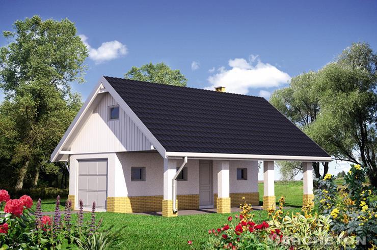 Projekt domu Garaż 34
