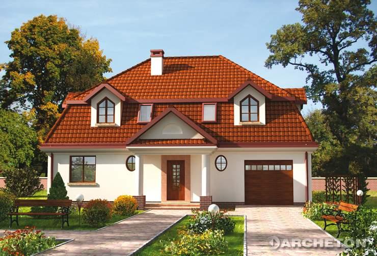 Projekt domu Gawot - malowniczy dom z dachem mansardowym