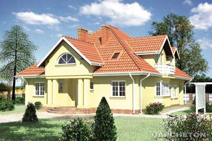 Projekt domu Gerwazy - duży dom o niepowtarzalnej bryle, z garażem na dwa samochody
