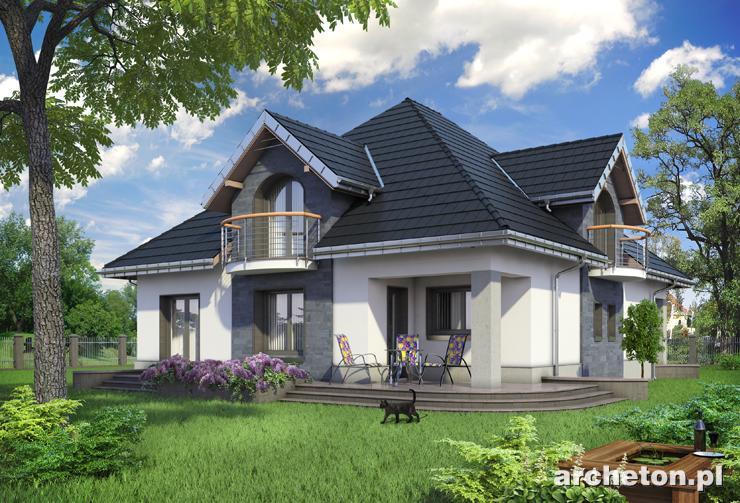 Projekt domu Gloria G2 - rezydencja dla 4-5 osobowej rodziny, z garażem dwustanowiskowym