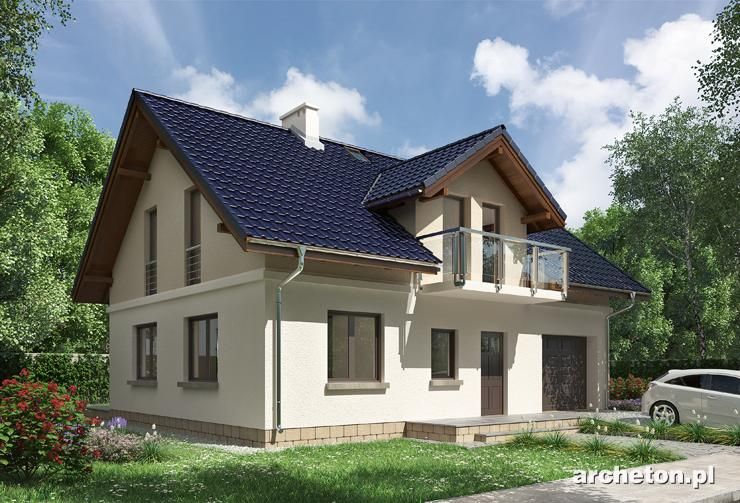 Projekt domu Godzisz - średniej wielkości dom z dachem z dachówki ceramicznej