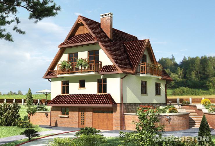 Projekt domu Grań - dom nawiązujący swoją formą do architektury Podhala