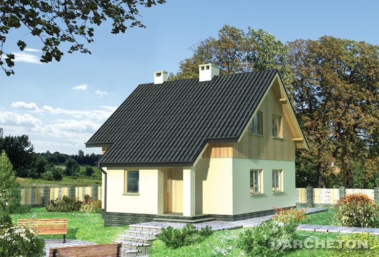 Projekt domu Groszek - nieduży dom jednorodzinny całoroczny lub letniskowy