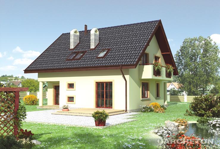 Projekt domu Gustaw - dom jednorodzinnych z kotłownią i pralnią na parterze