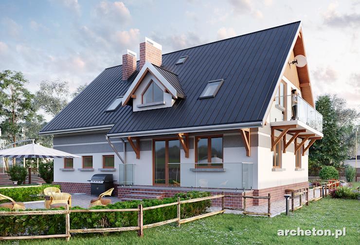 Projekt domu Gwidon - duży dom pokryty dachem dwuspadowym