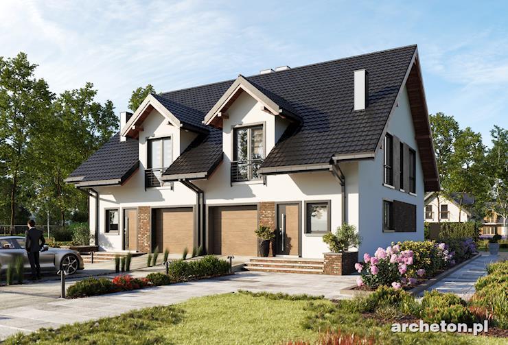 Projekt domu Hania Duo - dom do zabudowy bliźniaczej, dla czteroosobowej rodziny