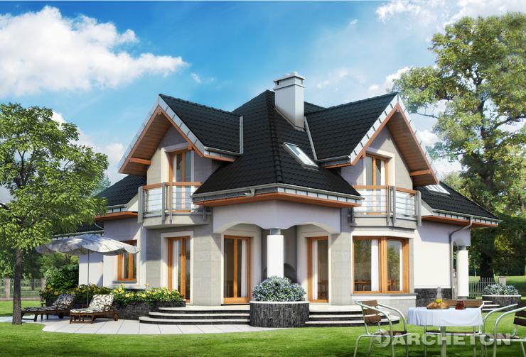 Projekt domu Hektor Bas - dom o tradycyjnej sylwetce z bogatym detalem architektonicznym
