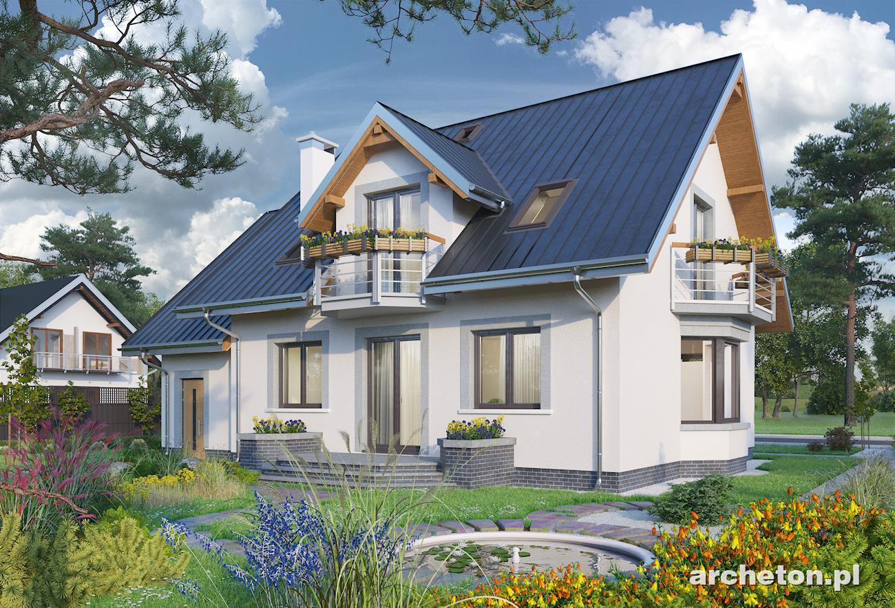 Projekt domu Helena beton komórkowy - Archeton.pl
