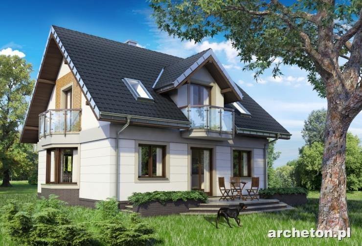Projekt domu Helena Neo - dom o nowoczesnej architekturze, bez garażu, pokryty dachem dwuspadowym