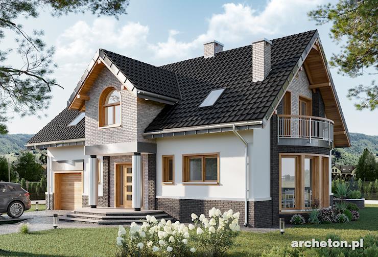 Projekt domu Heliasz - dom z kolekcji Neoton, z atrakcyjnym wykuszem jadalni