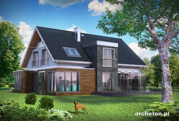 Projekt domu Helios Max - duży i nowoczesny dom jednorodzinny, z podpiwniczeniem