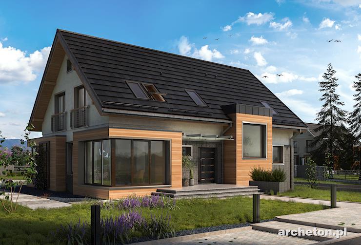 Projekt domu Helios Stok - dom podpiwniczony, z garażem dwustanowiskowym
