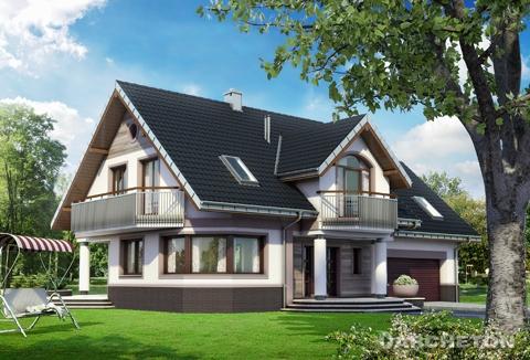 Projekty Domów Parterowych Z Poddaszem Użytkowym I Garażem