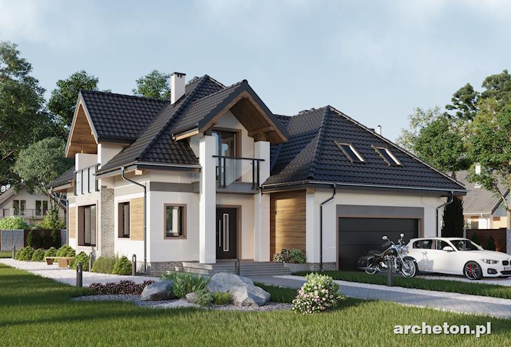 Projekt domu Hermes - nowoczesny dom z dużym przeszkleniem pokoju dziennego