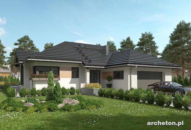 Projekt domu Hermina - dom parterowy o atrakcyjnej bryle i nowoczesnych detalach