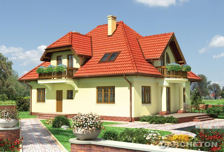 Projekt domu Hipolit - dom z czterema dużymi pokojami na poddaszu