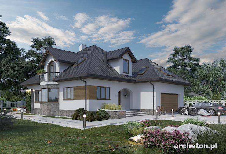 Projekt domu Honorata - przestronny i funkcjonalny dom, z 5 sypialniami i dużym garażem