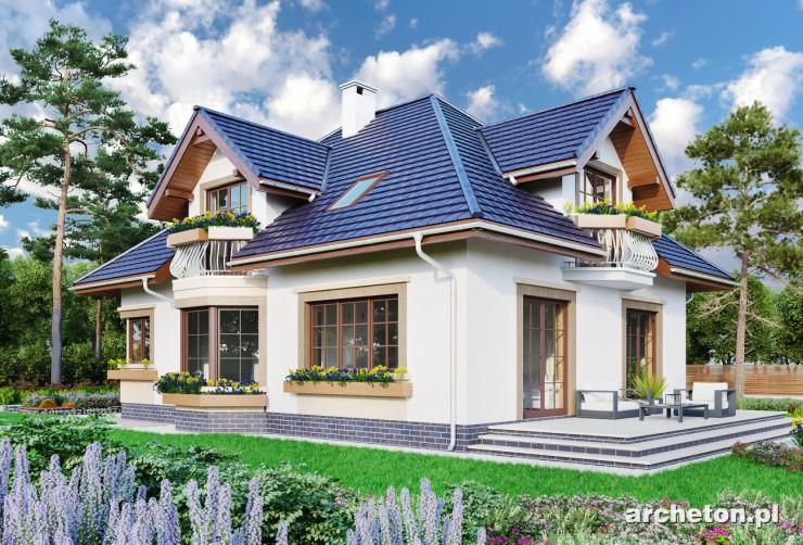 Projekt domu Hortensja - dom przypominający eleganckie, stare miejskie wille