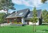 Projekt domu Ignacy - funkcjonalny dom, z dodatkowym pokojem na parterze i garażem dwustanowiskowym