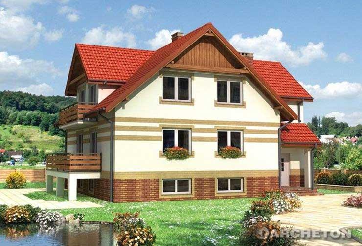 Projekt domu Irena - dom dla dwóch rodzin, całkowicie podpiwniczony