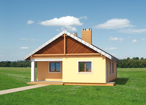 Projekt domu Iskierka