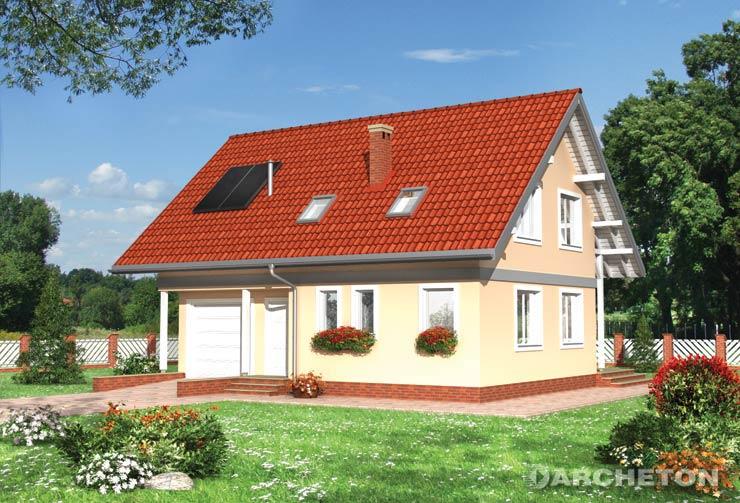Projekt domu Iwona - nieduży dom parterowy z kotłownią dostępną z garażu