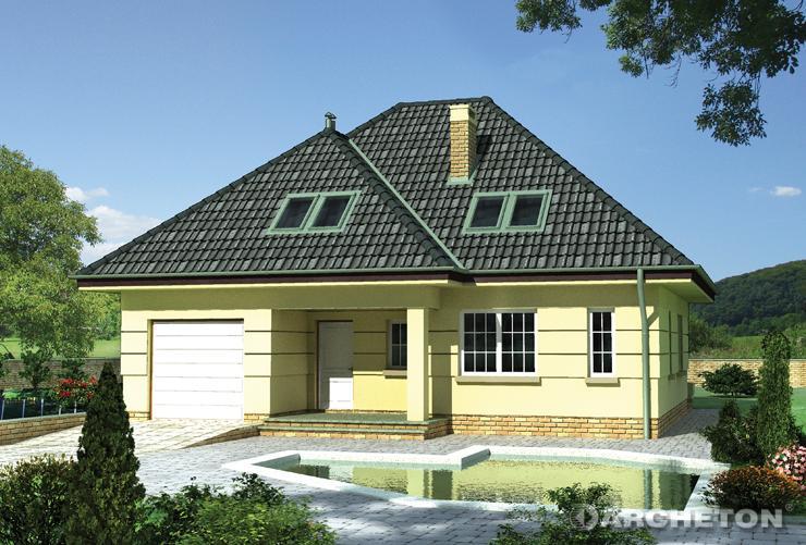 Projekt domu Izyda - dom na rzucie zbliżonym do prostokąta przykryty dachem wielospadowym