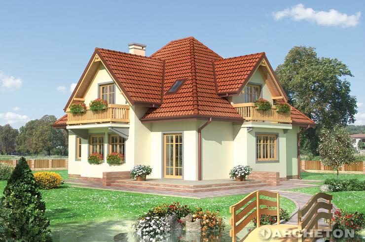 Projekt domu Jaskier - elegancji dom jednorodzinny z balkonami na wspornikach