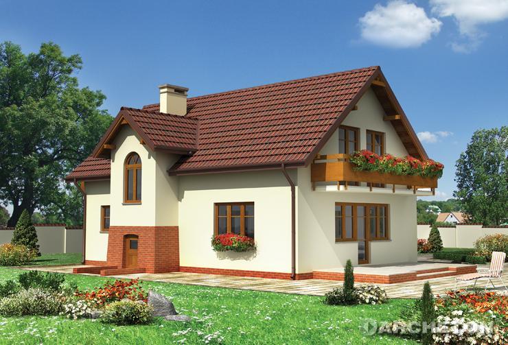 Projekt domu Jaspis - elegancki domek ze schowkiem pod klatką schodową dostępnym z zewnątrz