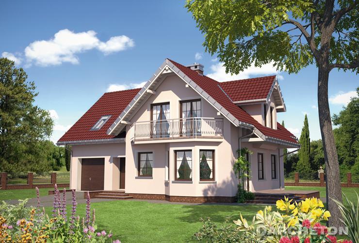 Projekt domu Jelonek Astro - dom jednorodzinny z ogrzewaniem na paliwo stałe lub gaz
