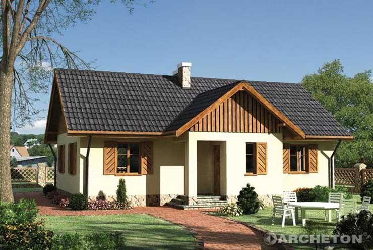 Projekt domu Jemioła - dom z oknami doświetlającymi antresolę oraz strych