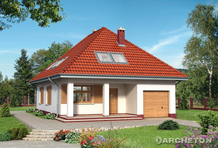 Projekt domu Jesion - nieduży dom jednorodzinny na planie prostokąta