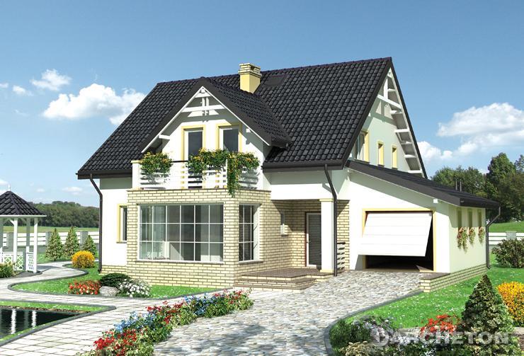 Projekt domu Jonatan - elegancki dom z dużą przeszkloną kuchnią