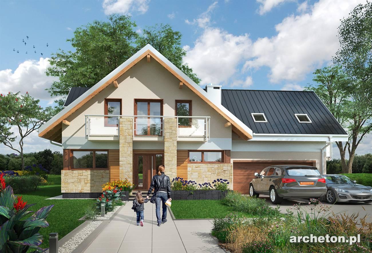 Projekt Domu Kaja Muza Dom Z Użytkowym Poddaszem I Garażem