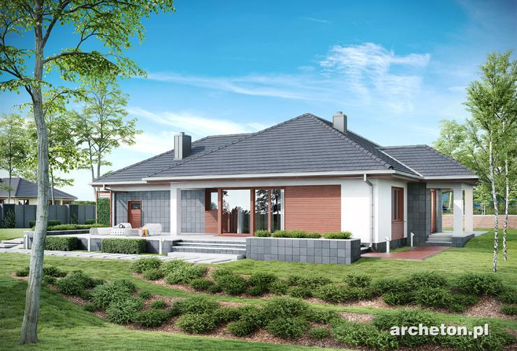 Projekt domu Kamelia - atrakcyjny i funkcjonalny dom parterowy, z 3 sypialniami