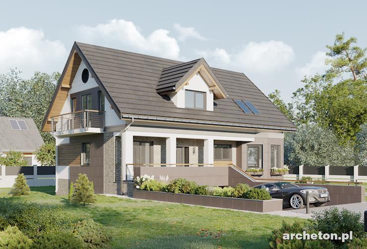 Projekt domu Kaprys Polo - mała rezydencja z podpiwniczeniem i garażem dwustanowiskowym
