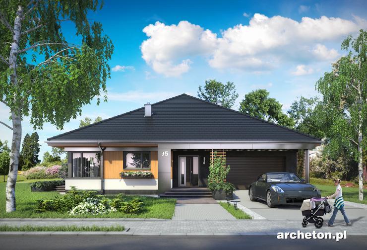 Projekt domu Karol - atrakcyjny dom parterowy, pokryty dachem czterospadowym